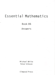 Essential Maths Book 8S Answers, Paperback Book