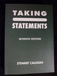 Taking Statements, Paperback Book
