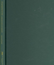 Clarendon : Landscape of Kings, Hardback Book