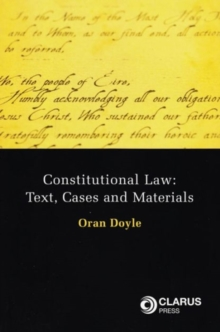 Constitutional Law : Text, Cases and Materials, Paperback / softback Book
