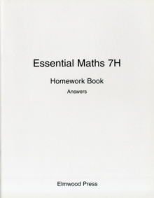 Essential Maths 7H Homework Book Answers, Paperback Book