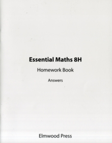 Essential Maths 8H Homework Book Answers, Paperback Book