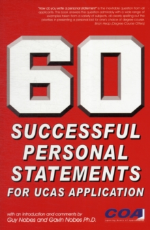 60 Successful Personal Statements, Paperback Book