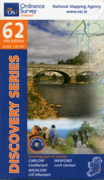 Carlow, Wexford, Wicklow, Sheet map, folded Book