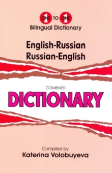 One-to-one dictionary : English-Russian & Russian English dictionary, Hardback Book