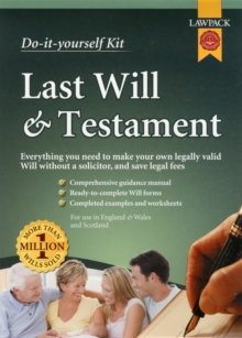 Last Will & Testament Kit, Kit Book
