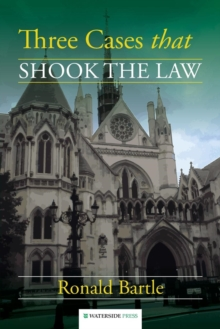 Three Cases That Shook the Law, Paperback / softback Book