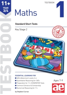 11+ Maths Year 3/4 Testbook 1 : Standard Short Tests, Paperback Book