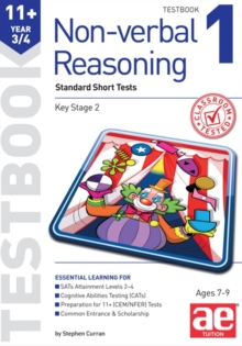 11+ Non-verbal Reasoning Year 3/4 Testbook 1 : Standard Short Tests, Paperback Book