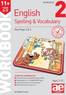 11+ Spelling and Vocabulary Workbook 2 : Foundation Level, Paperback Book