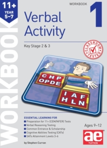 11+ Verbal Activity Year 5-7 Workbook 1 : Including Multiple Choice Test Technique, Paperback Book