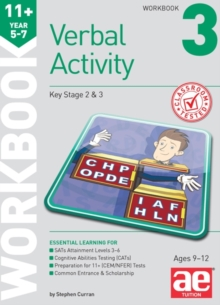 11+ Verbal Activity Year 5-7 Workbook 3 : Technique for CEM Style Questions, Paperback Book