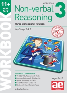 11+ Non-Verbal Reasoning Year 5-7 Workbook 3 : Three-Dimensional Rotation, Mixed media product Book