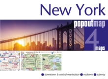 New York PopOut Map, Sheet map, folded Book