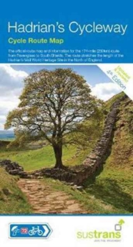 Hadrian's Cycleway : Cycle Route Map, Sheet map, folded Book