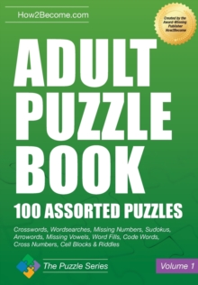 Adult Puzzle Book : 100 Assorted Puzzles, Paperback / softback Book