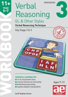 11+ Verbal Reasoning Year 5-7 GL & Other Styles Workbook 3 : Verbal Reasoning Technique, Paperback / softback Book