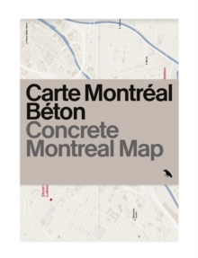 Concrete Montreal Map, Sheet map, folded Book
