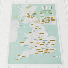 Gin Collect and Scratch Print, Wallchart Book