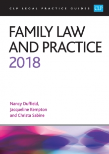 Family Law and Practice 2018, Paperback Book
