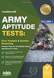 Army Aptitude Tests: : Error Analysis & Number Reasoning for the British Army Assessment Centre, Paperback / softback Book