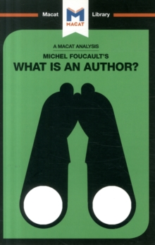 Michel Foucault's What is an Author?, Paperback / softback Book