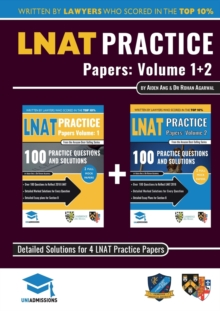 LNAT Practice Papers Volumes 1 and 2 : 4 Full Mock Papers, 200 Questions in the style of the LNAT, Detailed Worked Solutions, Law National Aptitude Test, UniAdmissions, Paperback / softback Book