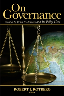 On Governance : What It Is, What It Measures and Its Policy Uses, Paperback / softback Book