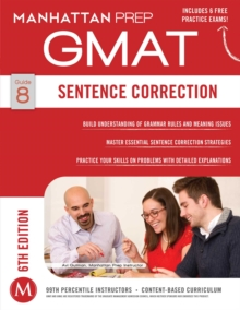 Sentence Correction GMAT Strategy Guide, Paperback Book