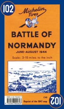 Battle of Normandy, Sheet map, folded Book