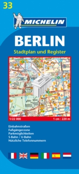 Berlin - Michelin City Plan 33 : City Plans, Sheet map Book