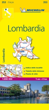 Lombardia - Michelin Local Map 353 : Map, Sheet map Book