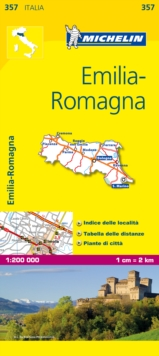 Emilia Romagna, Sheet map, folded Book