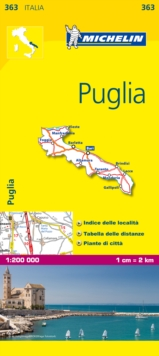 Puglia - Michelin Local Map 363 : Map, Sheet map Book