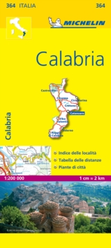 Calabria - Michelin Local Map 364 : Map, Sheet map Book