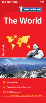 The World - Michelin National Map 701 : Map, Sheet map Book