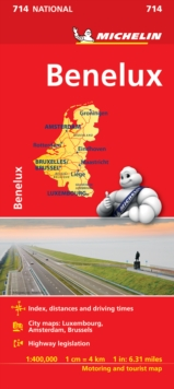 Benelux - Michelin National Map 714 : Map, Sheet map Book