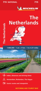 The Netherlands - Michelin National Map 715 : Map, Sheet map Book