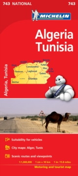Algeria, Tunisia - Michelin National Map 743 : Map, Sheet map Book