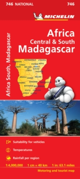 Africa Cental & South, Madagascar - Michelin National Map 746 : Map, Sheet map Book
