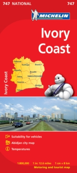 Ivory Coast - Michelin National Map 747 : Map, Sheet map Book