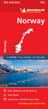 Norway - Michelin National Map 752 : Map, Sheet map Book