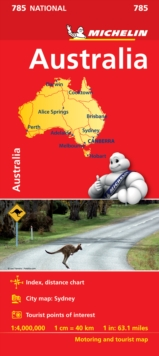 Australia - Michelin National Map 785 : Map, Sheet map Book