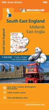 South East England - Michelin Regional Map 504 : Map, Sheet map Book