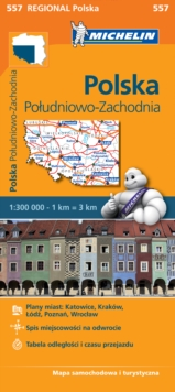 Poland South West - Michelin Regional Map 557 : Map, Sheet map Book