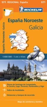 Galicia - Michelin Regional Map 571 : Map, Sheet map Book