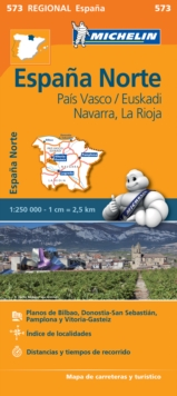 Pais Vasco, Navarra, La Rioja - Michelin Regional Map 573 : Map, Sheet map Book