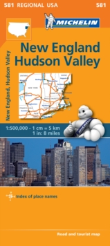 New England, Hudson Valley - Michelin Regional Map 581 : Map, Sheet map Book