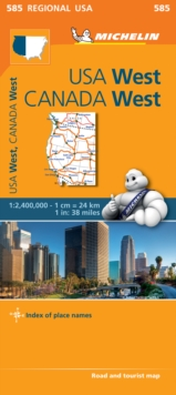 Western USA, Western Canada - Michelin Regional Map 585 : Map, Sheet map Book