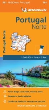 Portugal Norte - Michelin Regional Map 591 : Map, Sheet map Book